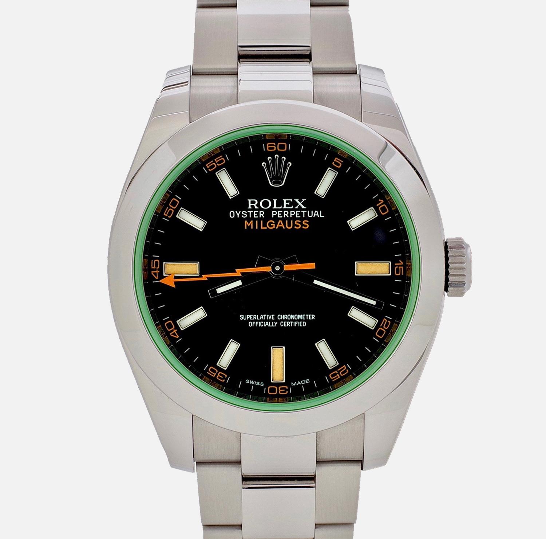 Мужские часы oyster perpetual milgauss z-blue от rolex (ref.# gv).